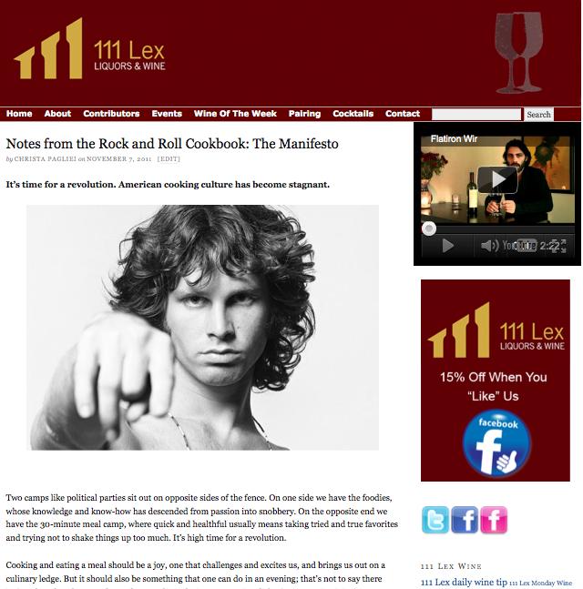 111 Lex Wine Blog