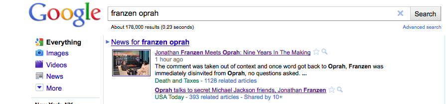 SEO - Death + Taxes Magazine - Oprah & Jon Franzen